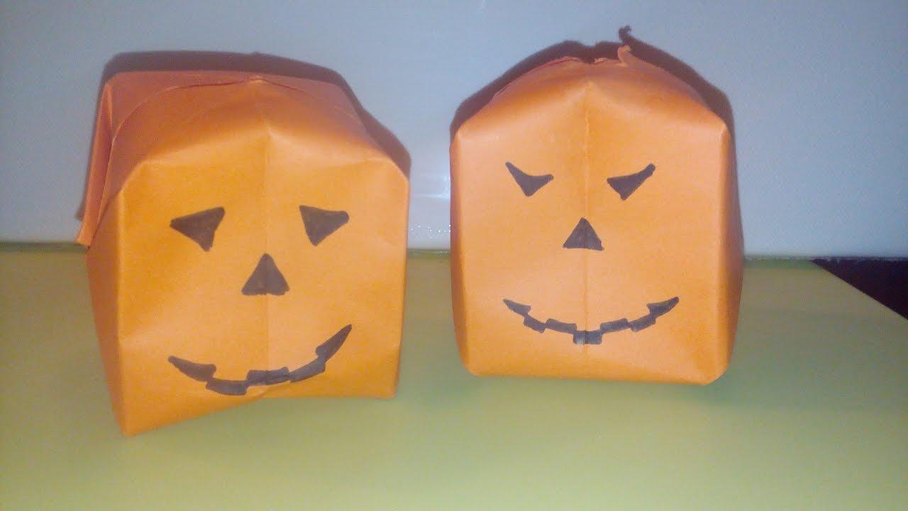Origami Facile La Citrouille Dhalloween Pumpkin Par Alexandre 6