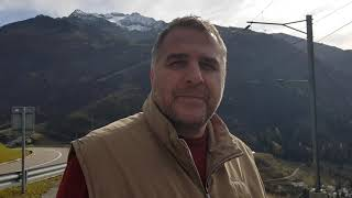 Андерматт вид с верху. кантон Ури. Швейцария.