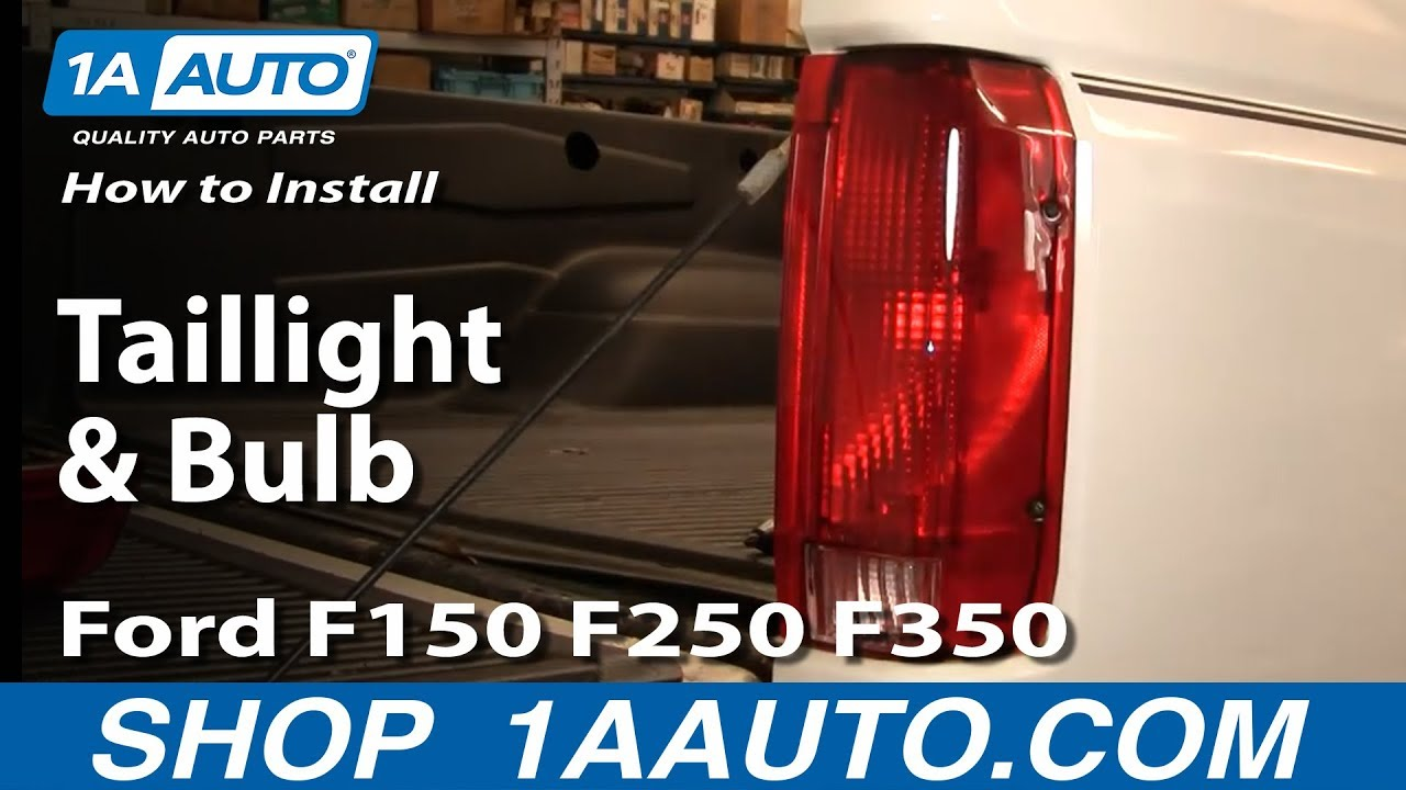 how to replace taillight and bulb ford 92 96 f150 250 350 [ 1280 x 720 Pixel ]
