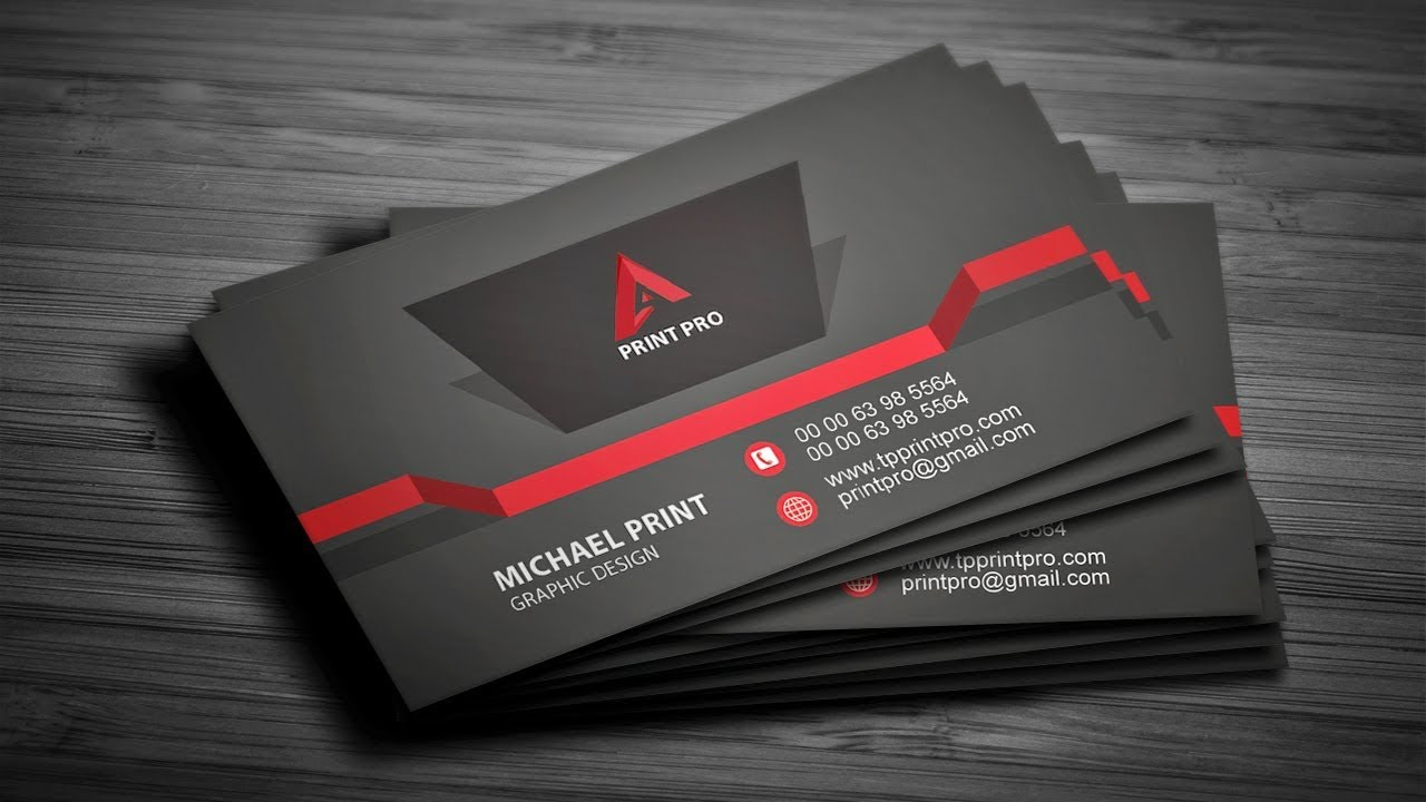 how to create a 3d business card in photoshop - 3 D Business Card