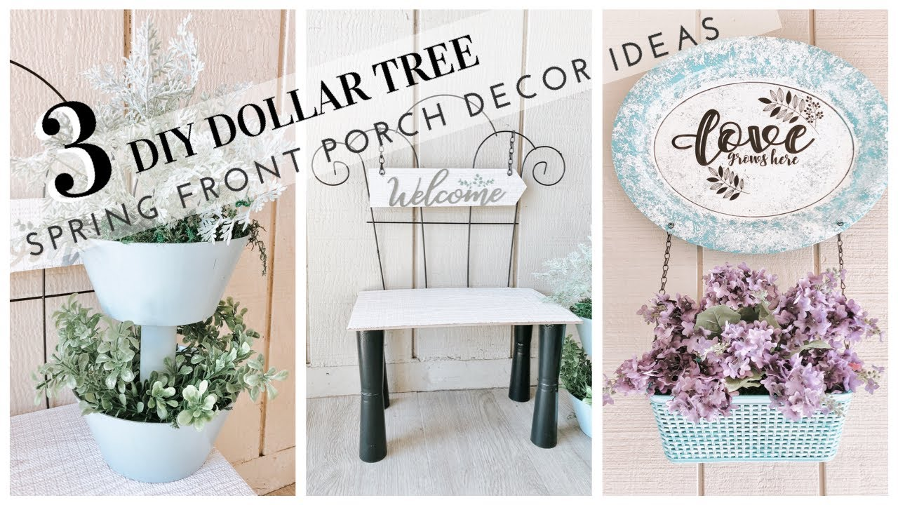 DIY DOLLAR TREE SPRING FRONT PORCH DECOR