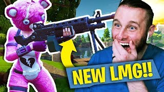 NEW LMG IS NUTS! Fortnite: Battle Royale! Solo Victory Royale