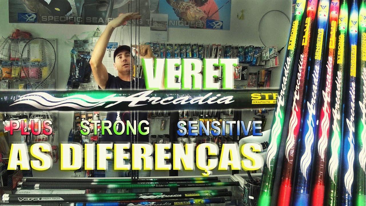 VERET ARCADIA, AS DIFERENÇAS - SEGREDOS DE PESCA