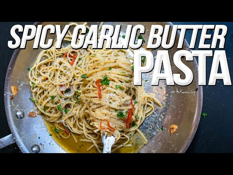 SPICY GARLIC BUTTER PASTA | SAM THE COOKING GUY 4K