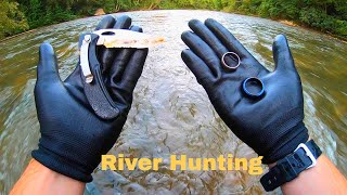 I Found 2 Wedding Rings and a Knife While River Metal Detecting!
