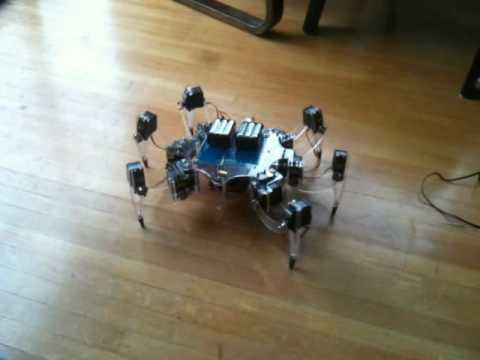 Arduino insect robot complete - YouTube