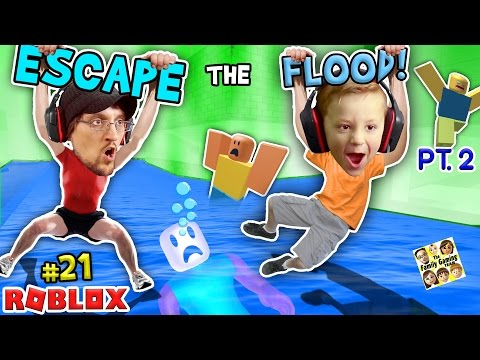 Thumbnail: ROBLOX FLOOD ESCAPE Pt.2! Try Not To Drown Challenge w/ FGTEEV Duddy & Chase #21