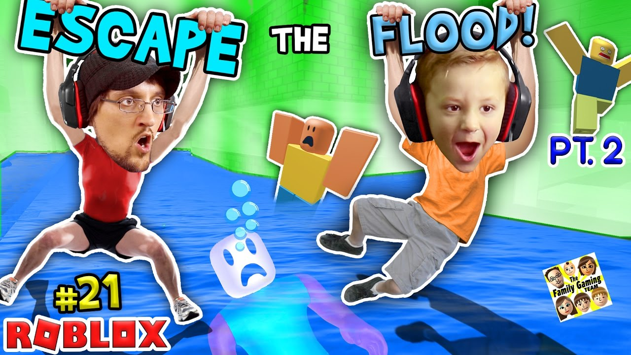 Roblox Flood Escape Pt 2 Try Not To Drown Challenge W Fgteev