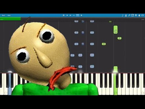Baldi's Basics Song - Don't Wanna Learn - Piano Cover / Tutorial - Not A Robot