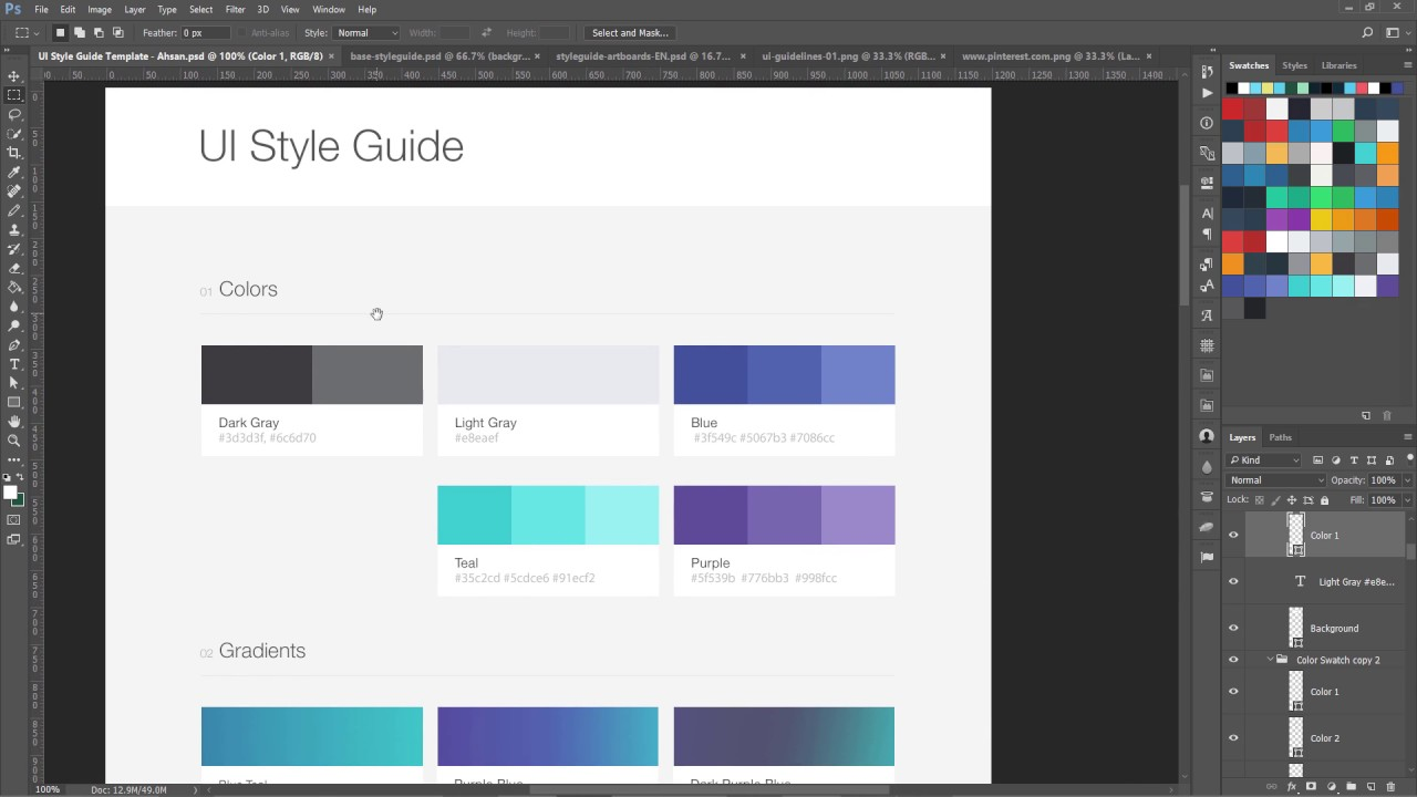 Using Style Guides in Web Design  Workflow of Modern web Design course  YouTube