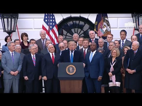 President Trump Delivers Remarks at a Bill Passage Event