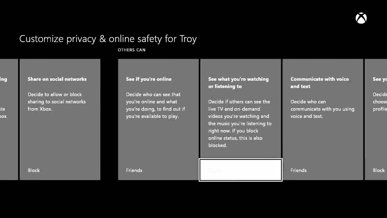 Xbox One: Set Child Privacy and Online Safety