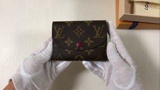루이비통 로잘리 동전지갑 (푸시아 컬러) 언박싱