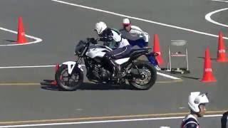 第16回 全国自動車教習所安全運転競技大会 【2輪コーススラローム】 徳島中央自動車教習所