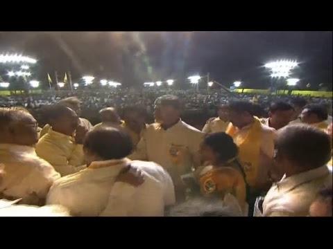CM Nara Chandrababu Naidu live from the Dharma Porata Sabha, Visakhapatnam