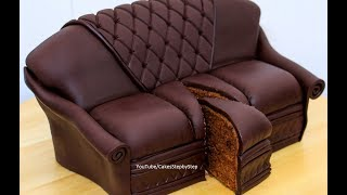 Chocolate Sofa Cake by Cakes StepbyStep thumbnail