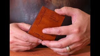 How to burnish Leather edges for great looking results
