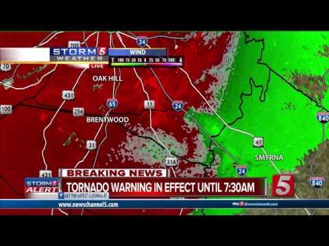 Nashville Tornado Coverage: 3/1/17 on WTVF