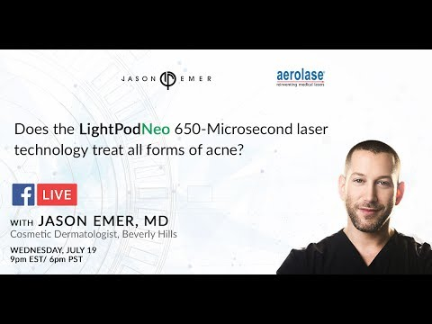 Dr  Emer Performing a NeoClear by Aerolase Treatment on Facebook LIVE