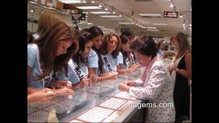 Miss California USA 2009 Pageant Contestants Visit INTA Gems & Diamonds