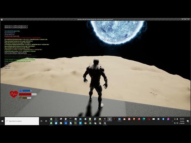 Planetary Rotation Test - Part 1 [UE4]