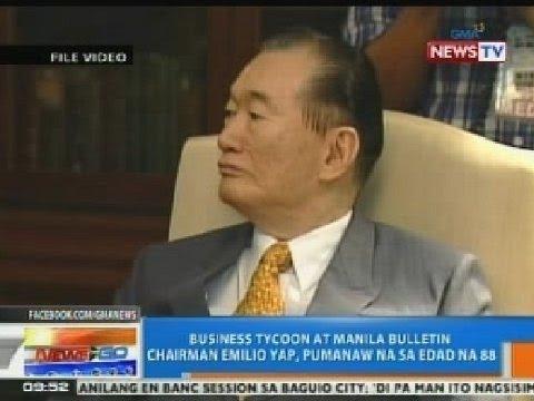 NTG: Business tycoon at Manila Bulletin chairman Emilio Yap, pumanaw na sa edad na 88