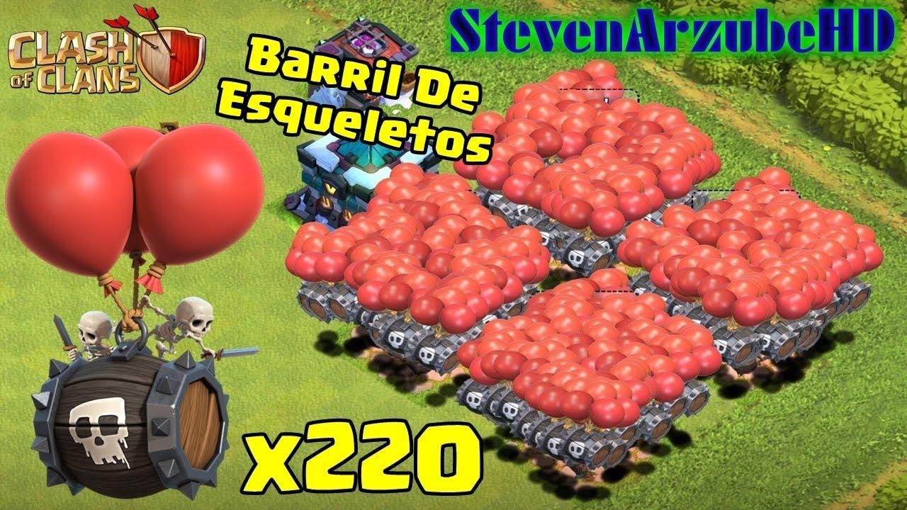 Barril De Esqueletos Nivel 9 x220 | Clash Of Clans | StevenArzube