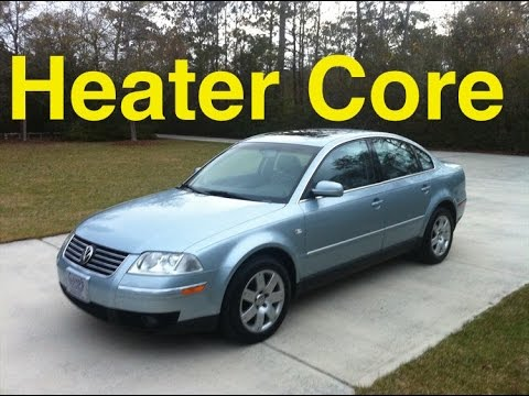 Passat Heater Core Replacement VW- Super Fast and Easy. B5 MK5 1996-2005