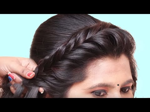 Easy & Beautiful Hairstyle for wedding/party | Wedding Guest hairstyle | Easy Hairstyles 2019 thumbnail