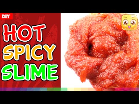 How To Make SPICY Slime DIY WITHOUT Borax or Liquid Starch ...