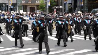 中央区立日本橋中学校 吹奏楽部 第十三回銀座柳まつりパレード 2019