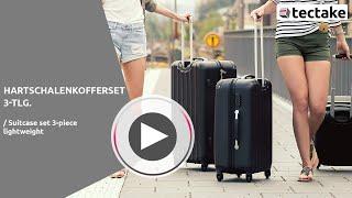 Hartschalen Reisekoffer Set (schwarz) | TecTake