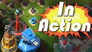 Doom Cannon & Shock Blaster In Action! Attacking Prototype Defenses | Boom Beach Gameplay
