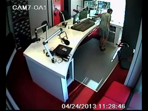 Cape Town's Number 1 Radio Diva goes down in studio... Oops!