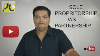 Difference between sole proprietorship and partnership.