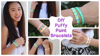 DIY Puffy Paint Bracelets | How To // Tutorial Thumbnail