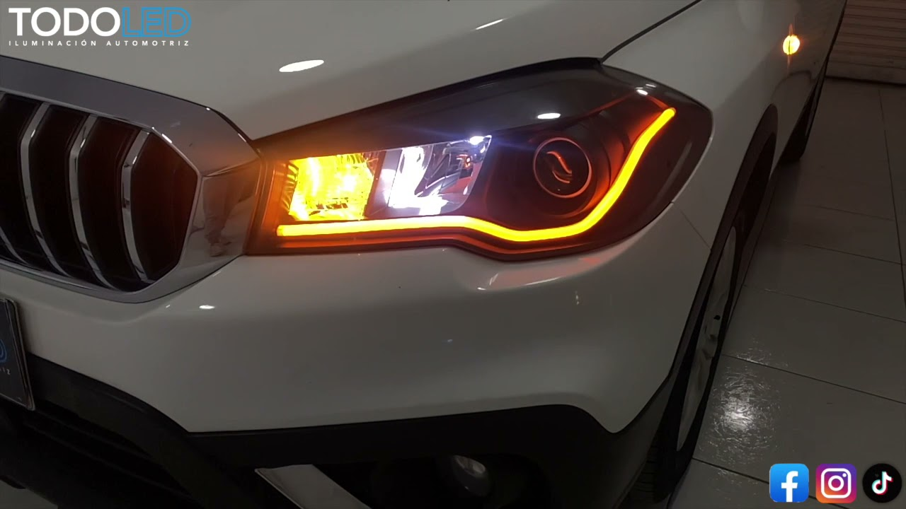 SUZUKI S-CROSS Headlights Customization (TIRA LED CONTINUA MEDIA/DIRECCIONAL) 🔥