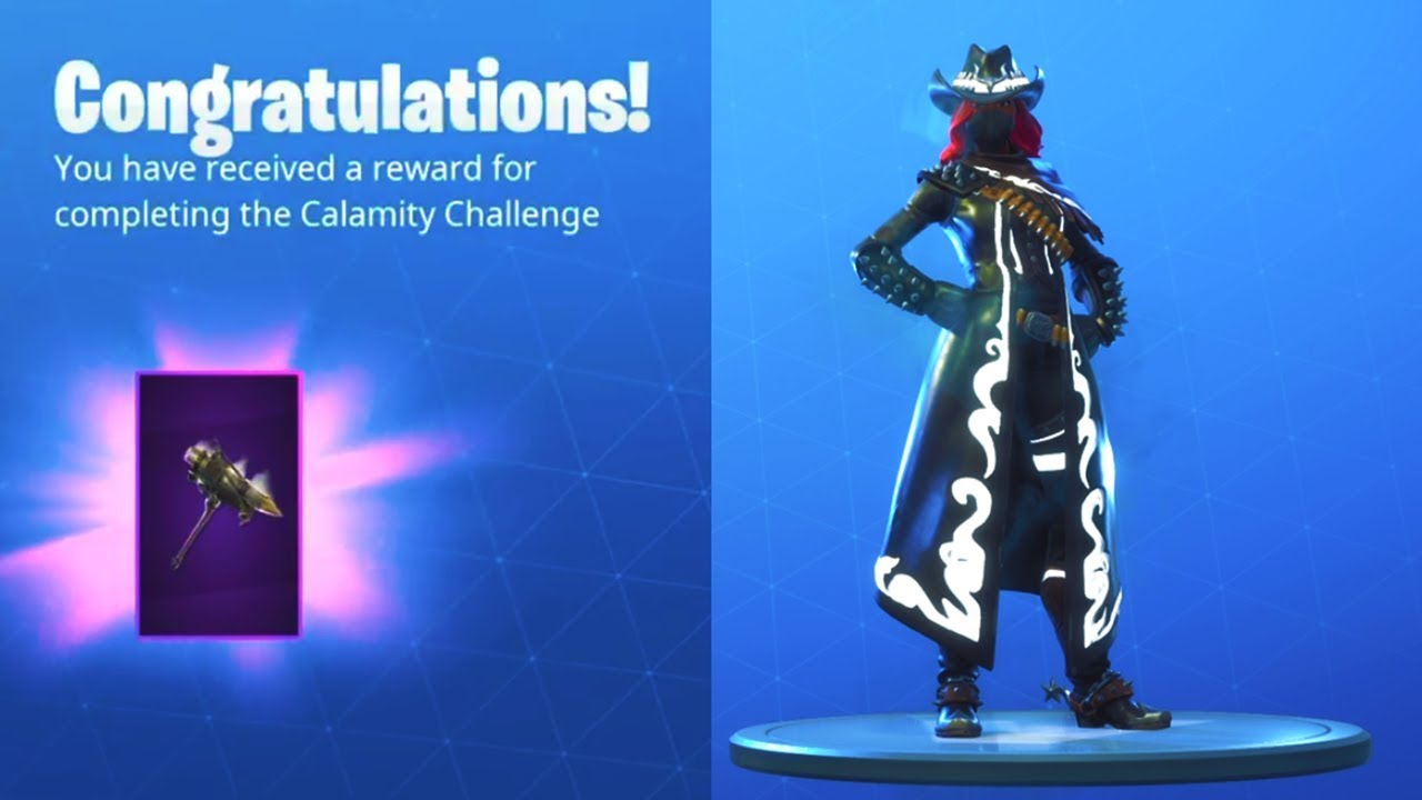 New Reckoning Level  Pickaxe Stage  Max Calamity Skin Full Upgrade Unlocked