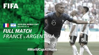 #WorldCupAtHome | France v Argentina (Russia 2018)