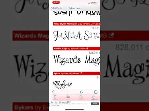 EASY - Download Fonts Into IPhone/iPad For Cricut Design Space