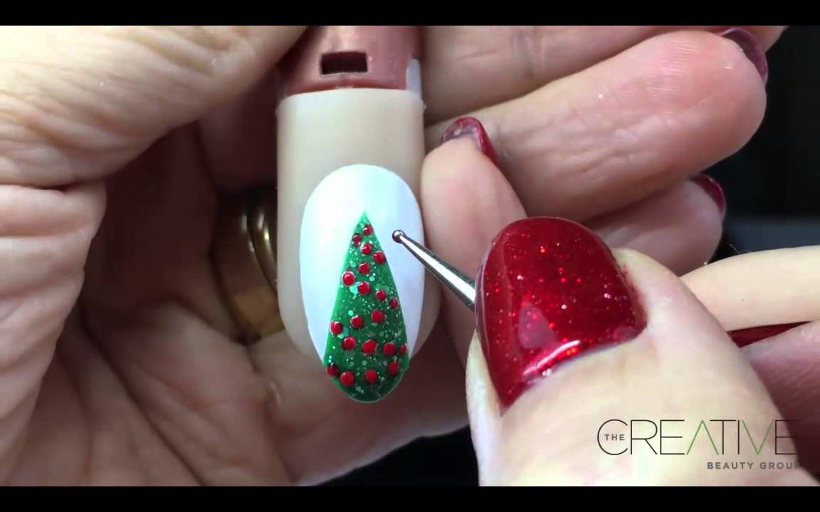 Christmas Nail Art Tutorial - Xmas Tree Nail Art - Gel II® The ...
