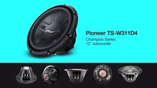 Car Subwoofer - PIONEER TS-W311D4 - Product Specs & Features