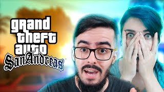 JOGANDO PELA 1ª VEZ! - GTA SAN ANDREAS (PT-BR) - PARTE 1 (FEAT NOBREZA GAMES)