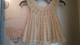 Кружевное платье крючком / Knitting dress for girls