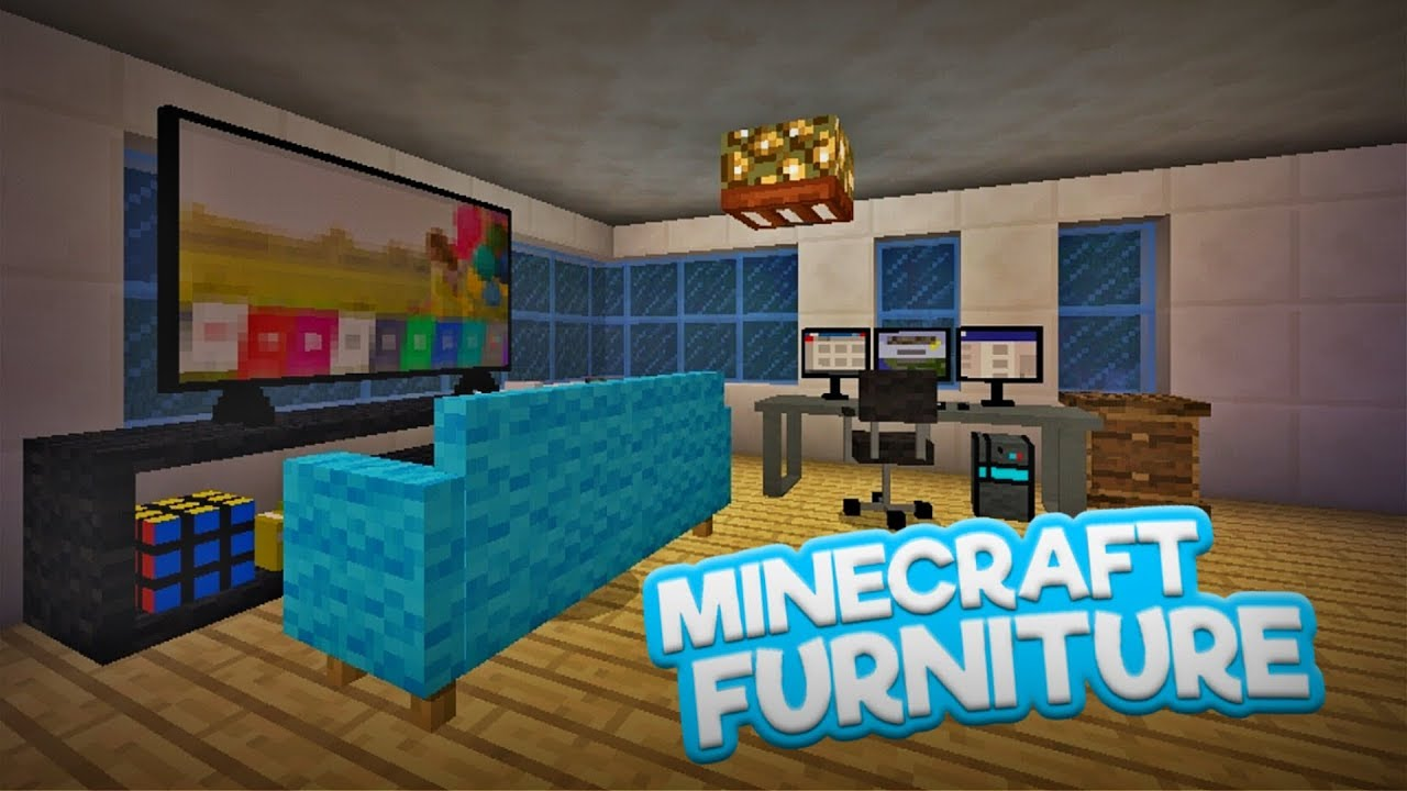 Cool new furnitures in minecraft pe mcpe 1 4 furniture addon bedrock edition