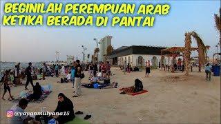 beginilah perempuan arab ketika berada di pantai