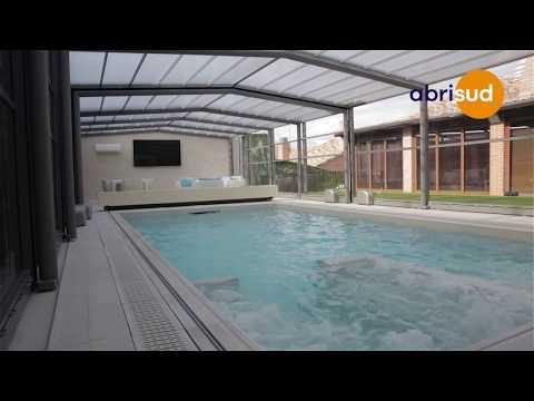 Abris de piscine haut avec couverture 4 saisons