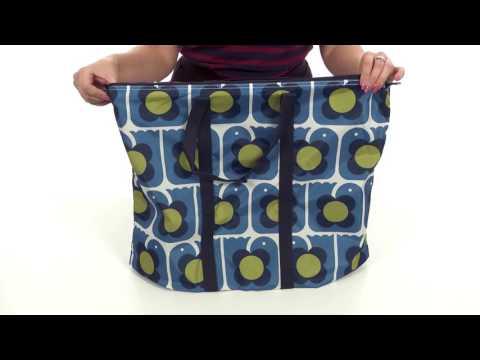 Orla Kiely Love Birds Print Foldaway Travel Bag SKU:8888575