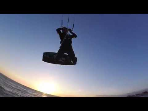 Kitesurfing Sunset GoPro Session