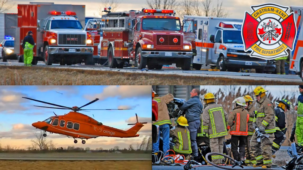 Serious Collision on Hwy 401 in Chatham-Kent, 01/18/2012